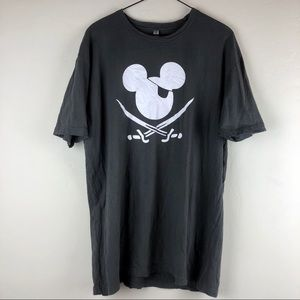 Disney Mickey Mouse Pirate Gray T-shirt XL